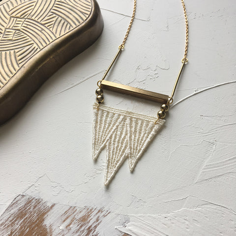 tiny mountains necklace
