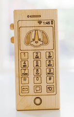 Toy wooden phone
