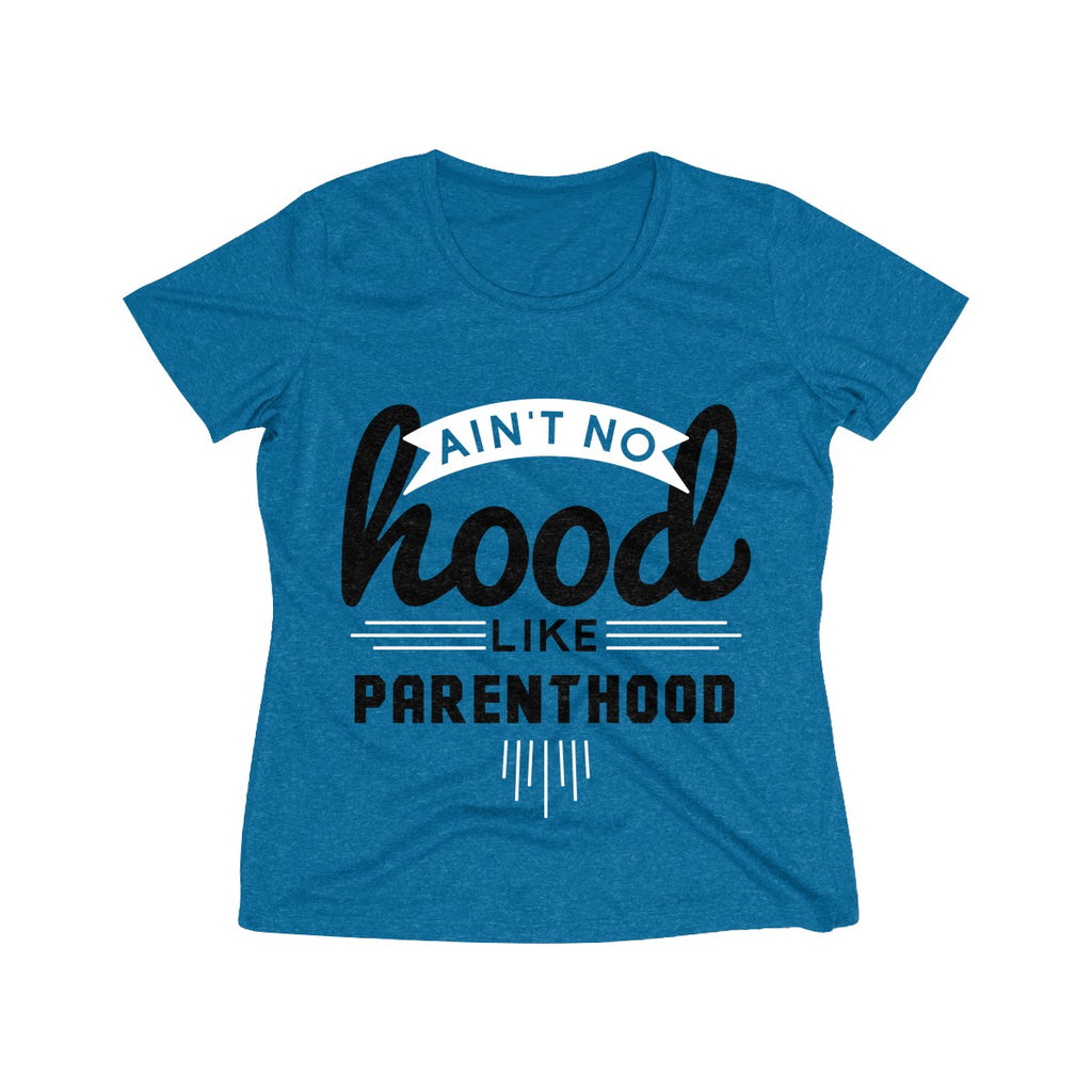 Ain't No Hood Like Parenthood T-Shirt (Adult Sizes), blue