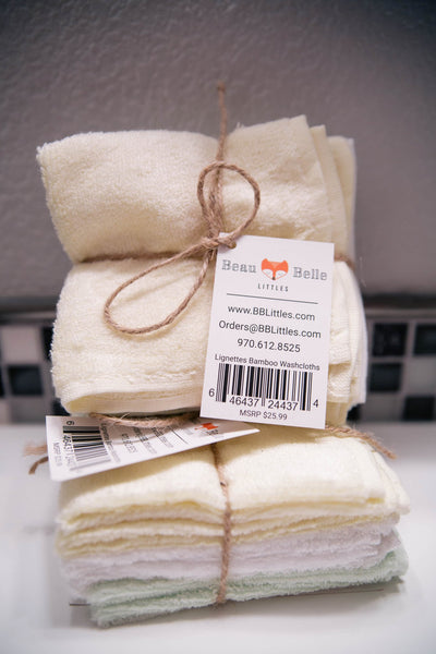 Premium All Natural Bamboo Washcloths (free pair)