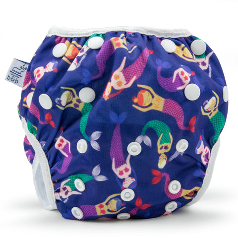 Large Mermaids Nageuret Premium Reusable Swim Diaper, Adjustable 2-5 Years