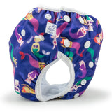 Toddler Size Mermaids Reusable Swim Diaper, Adjustable 2-5 Years
