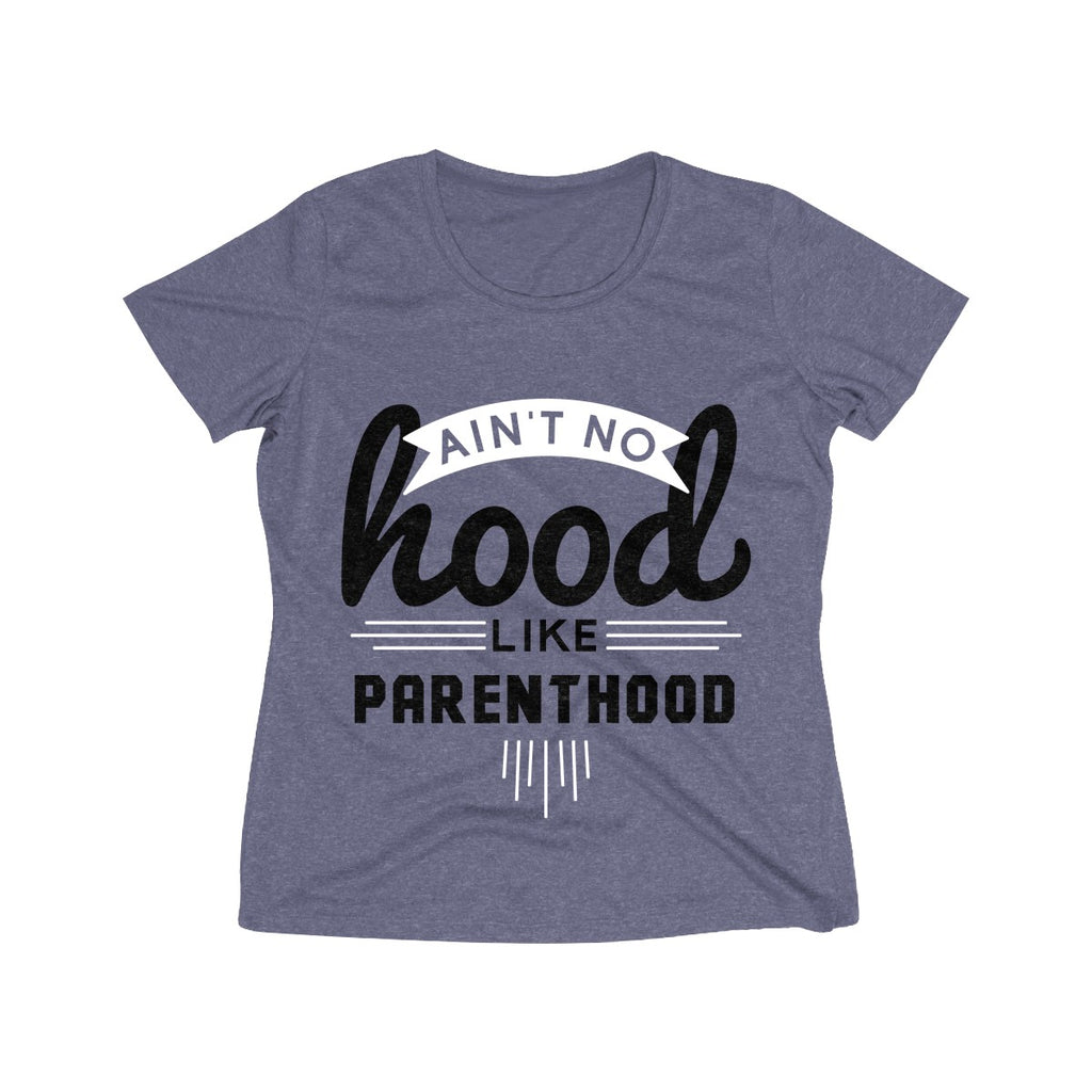 Ain't No Hood Like Parenthood T-Shirt (Adult Sizes), light blue