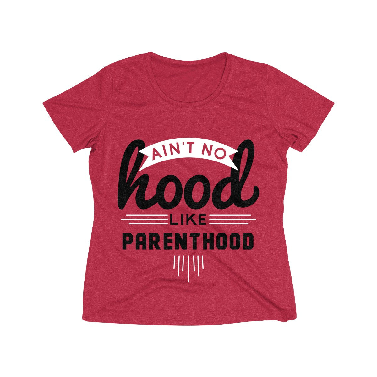 Ain't No Hood Like Parenthood T-Shirt (Adult Sizes), red