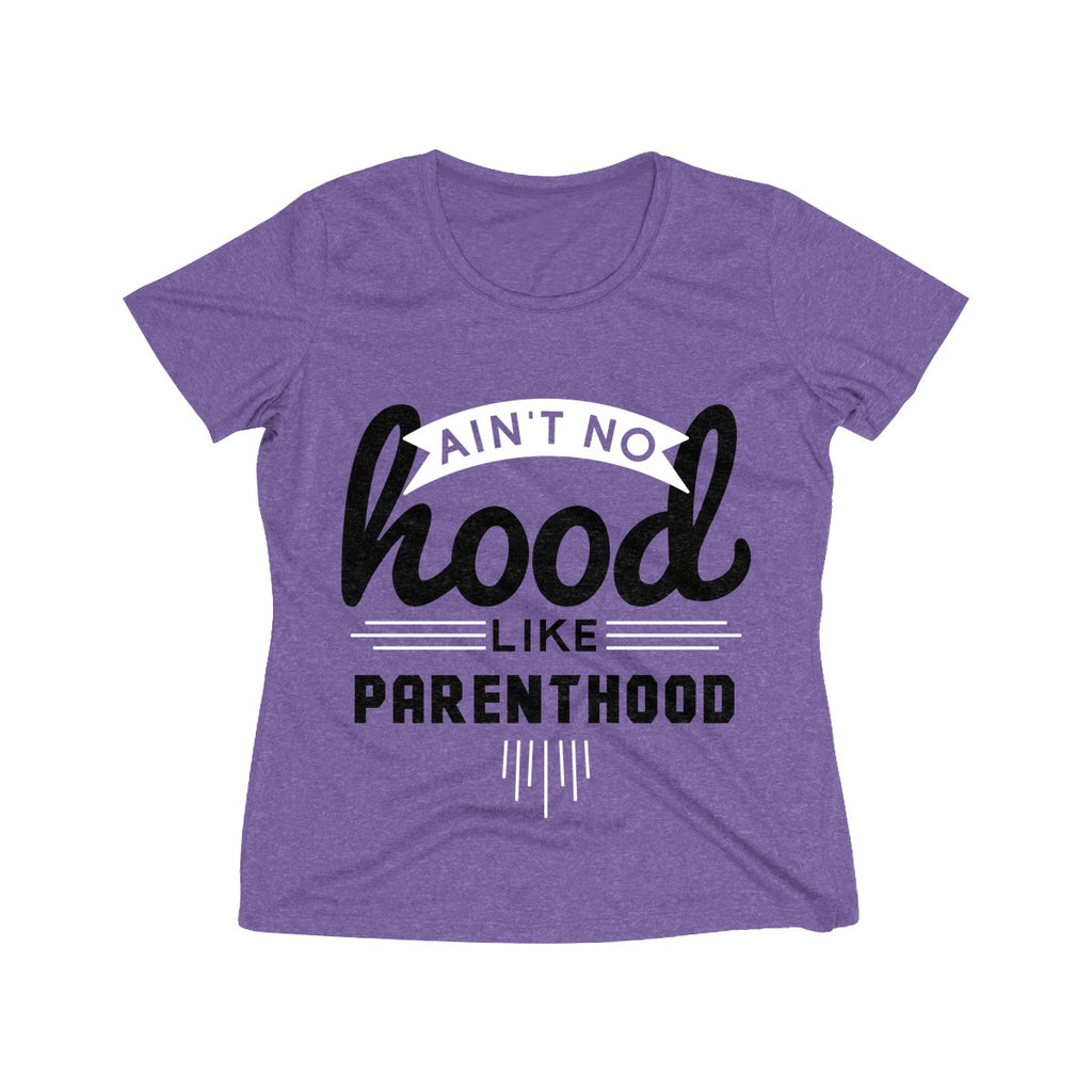 Ain't No Hood Like Parenthood T-Shirt (Adult Sizes), light purple