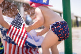 L/E Lauren Holiday Summer Cherry Bomb Print Nageuret Swim Diaper - 100% Proceeds to CF Foundation