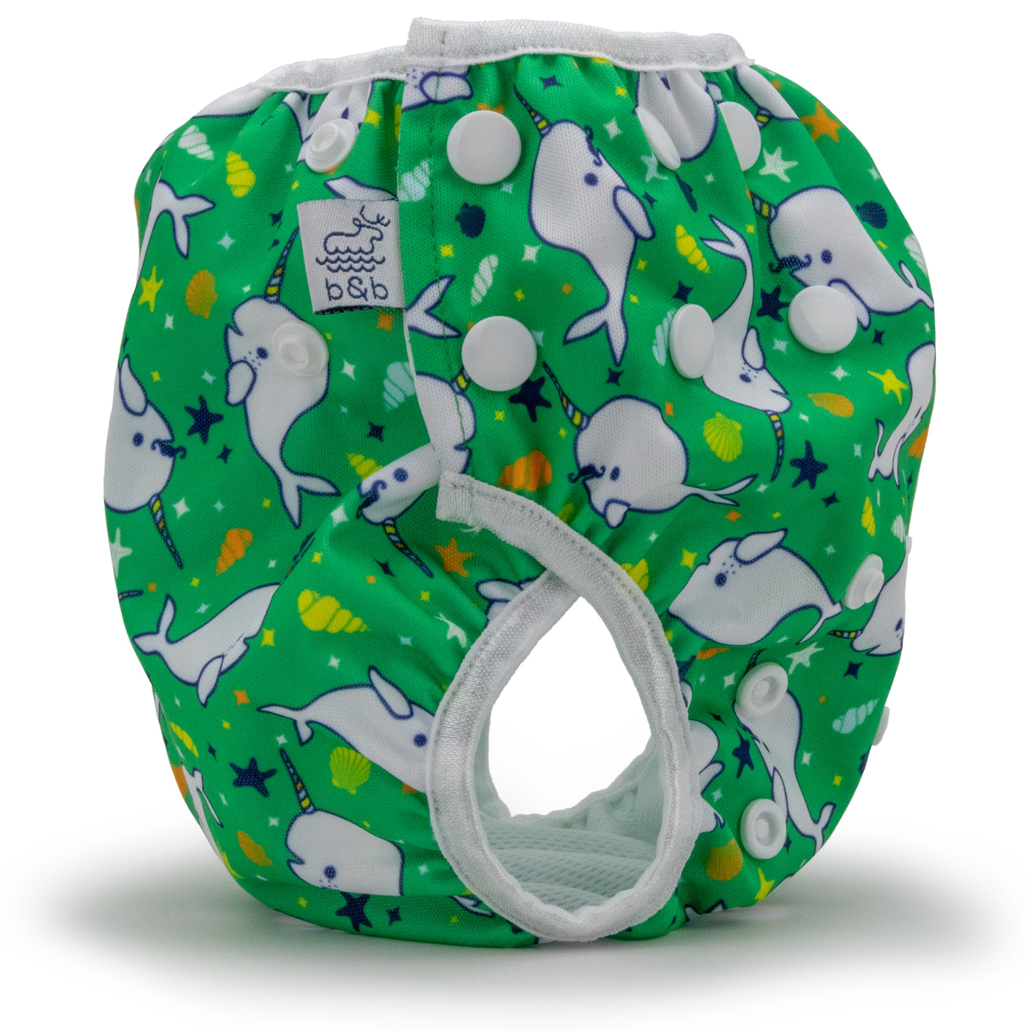 Narwhals 0-3 years Nageuret  Swim Diaper (Green)