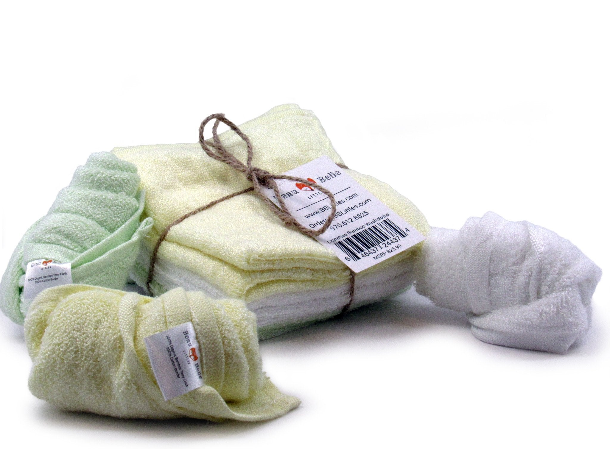 Premium All Natural Bamboo Washcloths (PAIR)