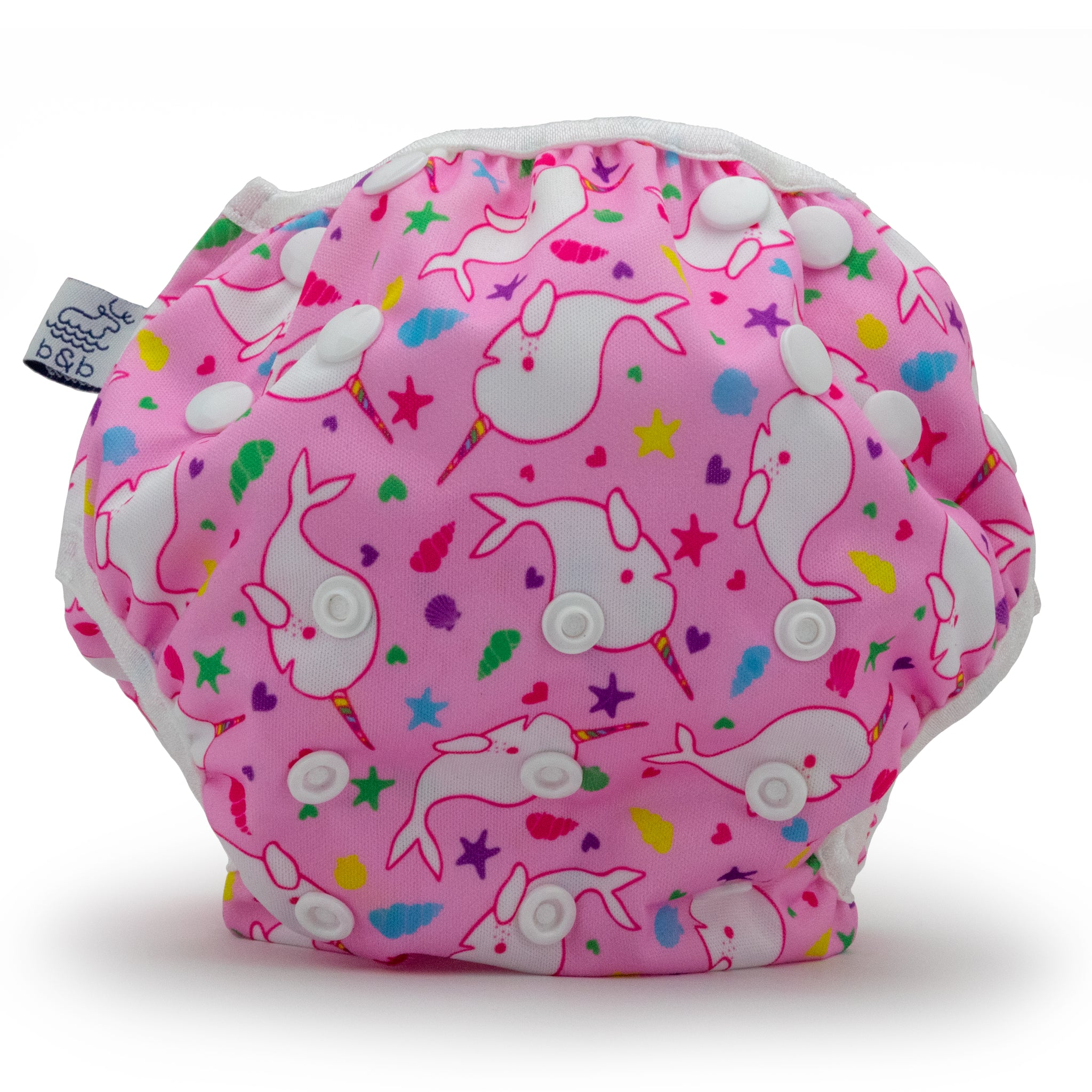 Narwhals 0-3 years Nageuret  Swim Diaper (Light Pink)