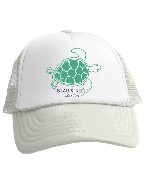 Beau and Belle Littles Sea Turtle Trucker Hat Baby Toddler Adult Sizes