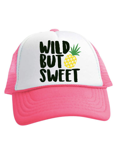 Wild But Sweet Trucker Hat Pineapple Baby Toddler Youth Adult Size Beau and Belle Littles