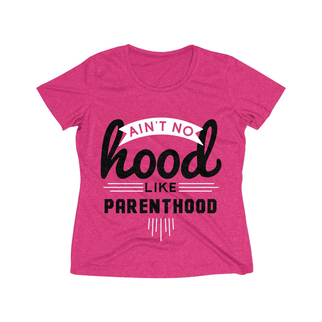 Ain't No Hood Like Parenthood T-Shirt (Adult Sizes), dark pink