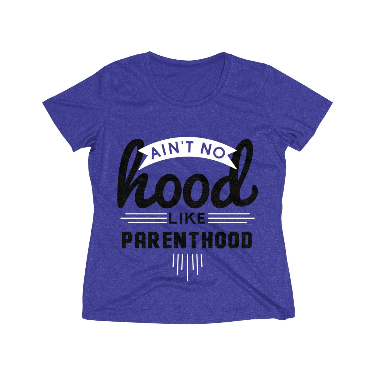 Ain't No Hood Like Parenthood T-Shirt (Adult Sizes), dark purple