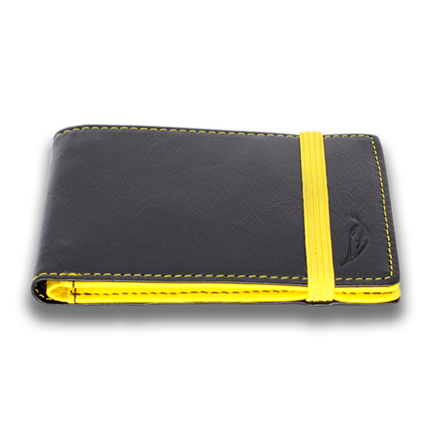 HITCHENS: Wallet LTD - Black Yellow
