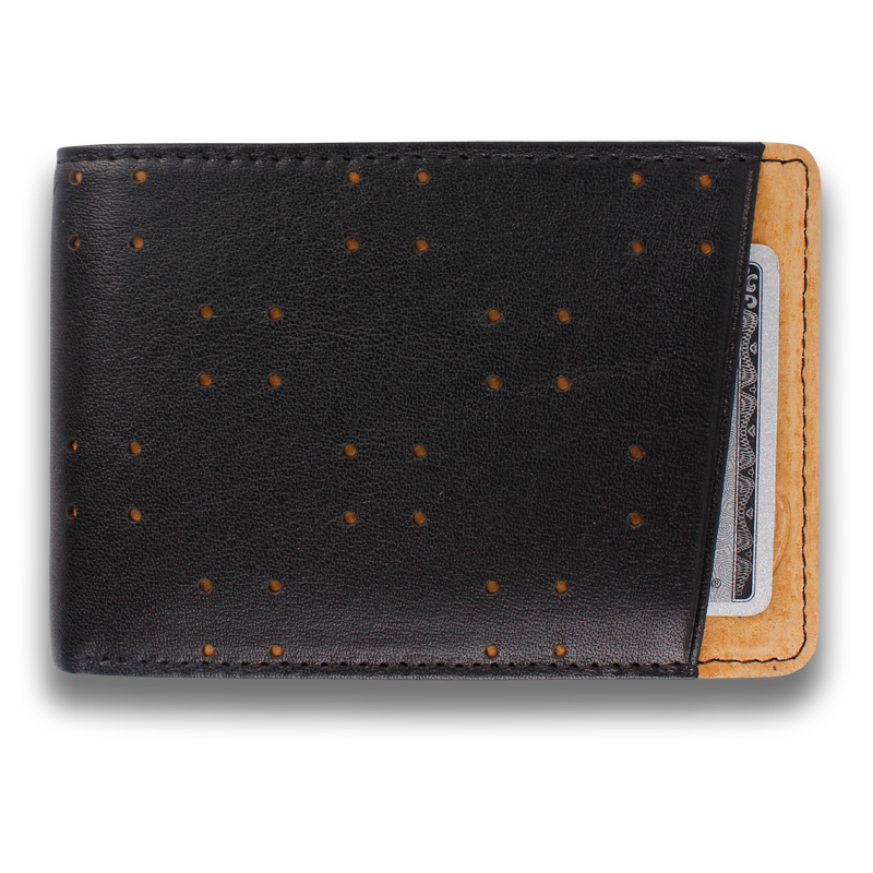 AV1: Wallet Black Tan