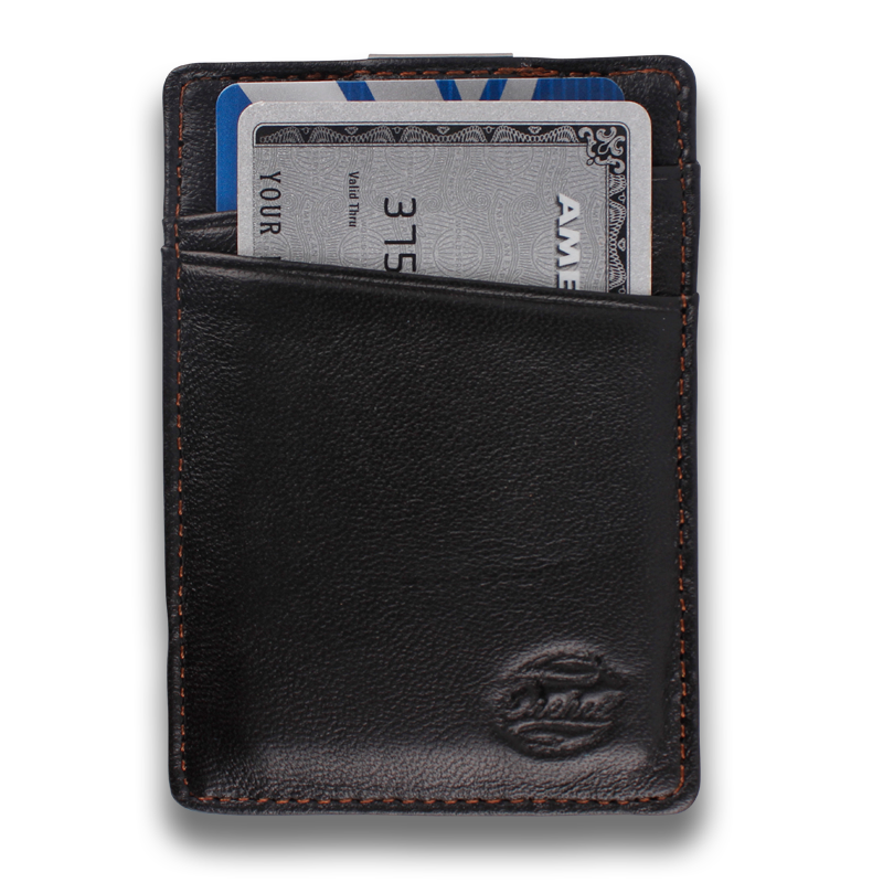 BOREAL: Wallet Black Tan