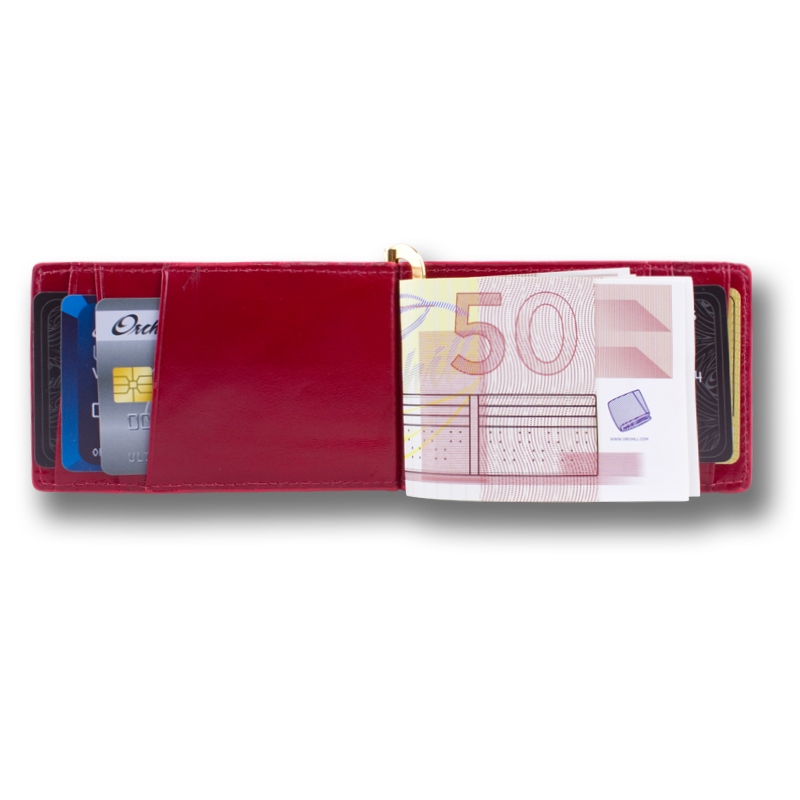 CAPTAIN CLIP: Wallet Oxblood