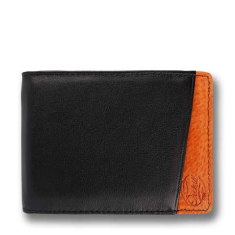 MICRO: Wallet Black Orange