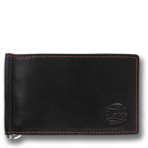 CAPTAIN CLIP: Wallet Black Orange