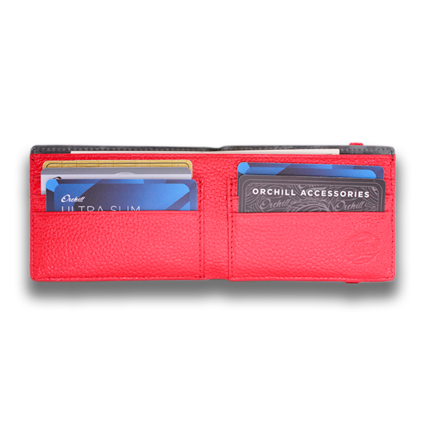 HITCHENS: Wallet LTD - Grey Red