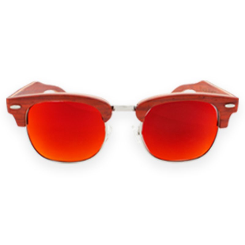 FMX Sunglasses: Rosewood-Red-Yellow