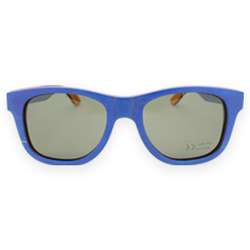 Burnside Wooden Sunglasses:Blue-Smoke