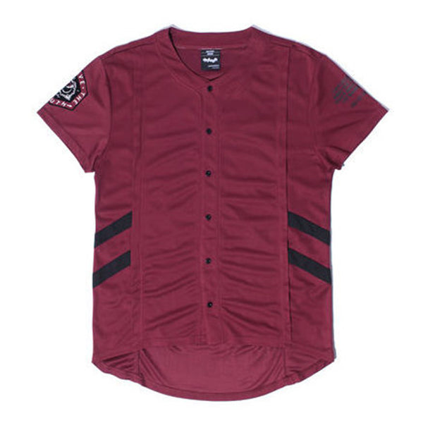 Misunderstood Burgundy Mesh Baseball Jersey - Low Stock