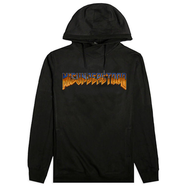 Misunderstood Doom Logo Custom Black French Terry Hoodie - No Restock
