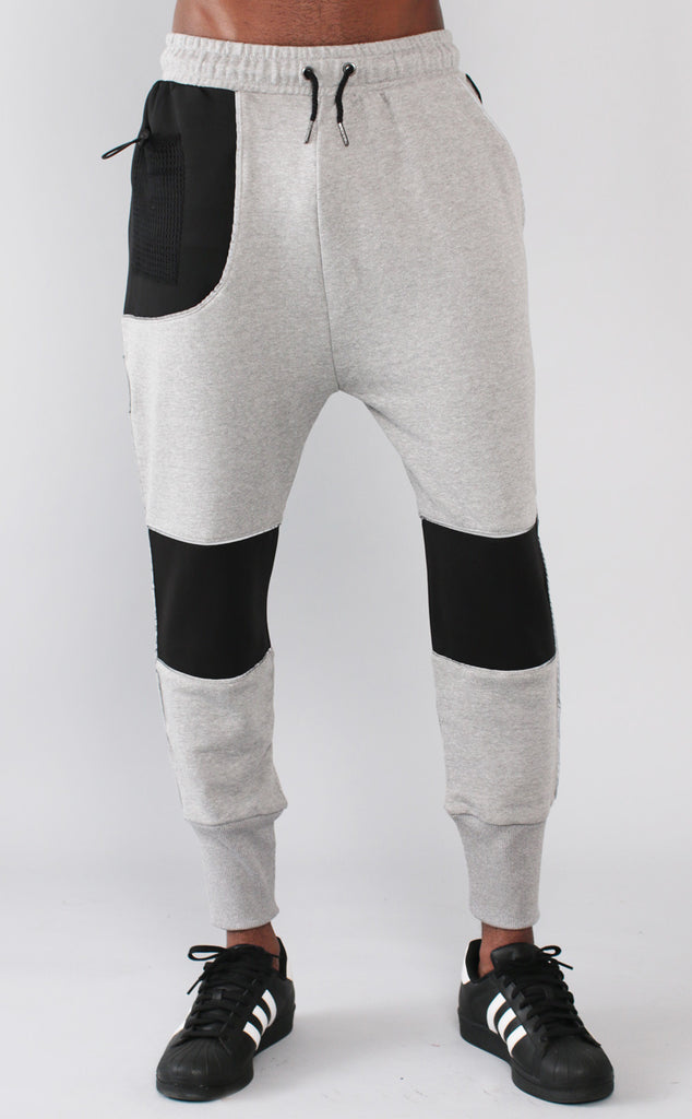 Unknown Gray French Terry Neoprene Joggers - 1 left!