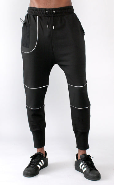 Unknown Black French Terry Neoprene Joggers