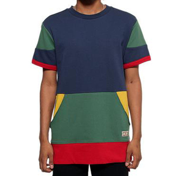 Entree LS 1990s Cut And Sewn Color Panel S/S Sweatshirt