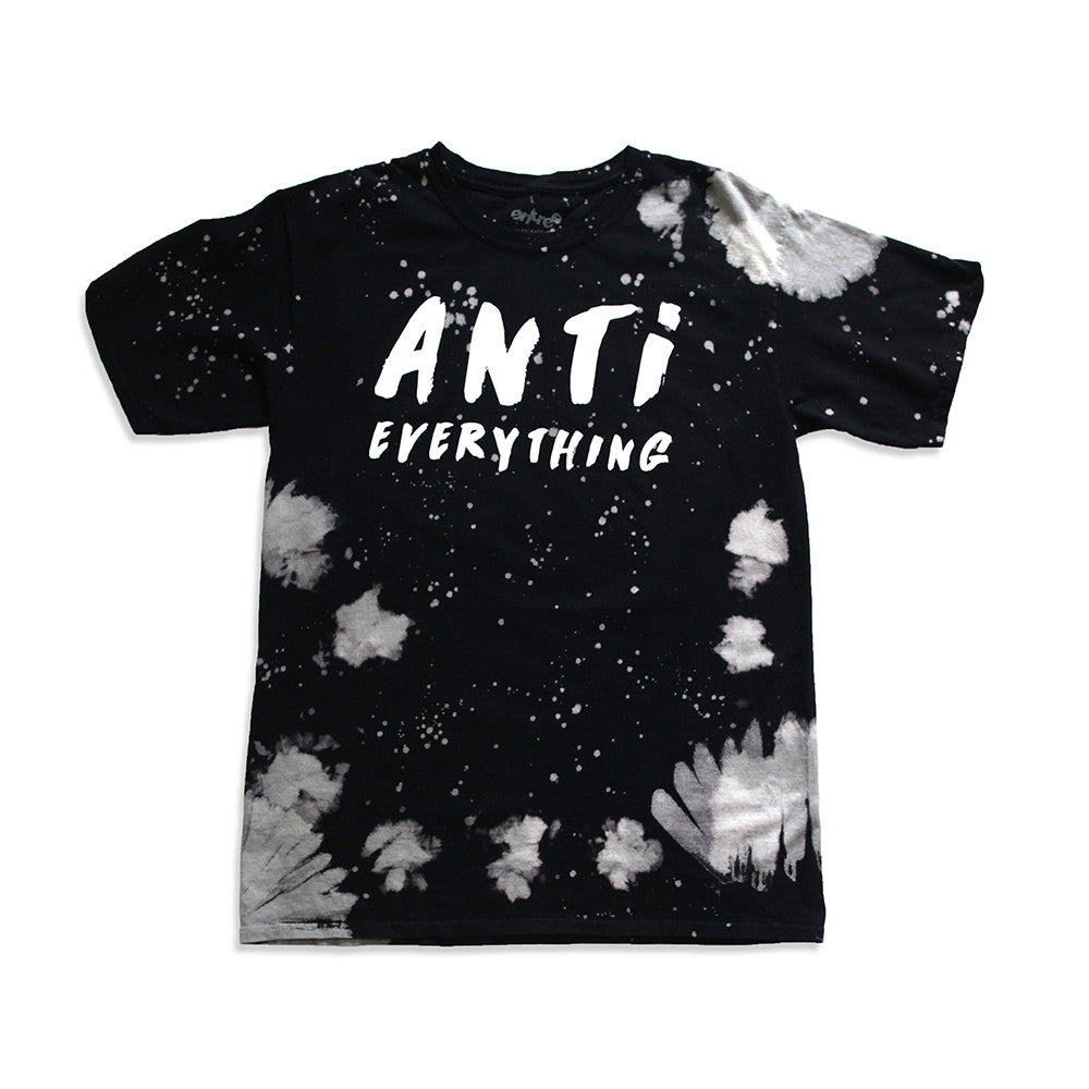 Anti Everything Vintage Tie Dye Black Tee - Last One!