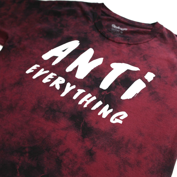 Anti Everything Vintage Tie Dye Red Tee