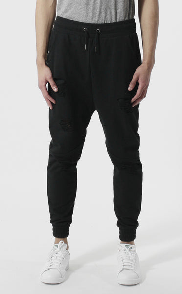 Unknown Aether Distressed Ripped French Terry Jogger Sweatpants