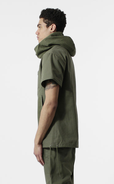 Unknown Archetype Brushed Canvas Military Parka /w Removable Sleeves