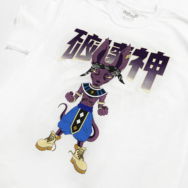 Lord Beerus God Life White Tee