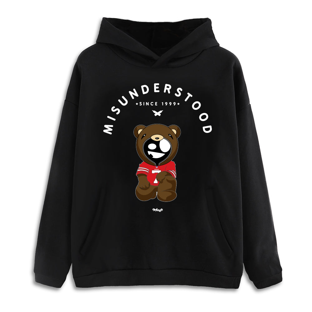 Misunderstood Kaepernick Drop Shoulder Black Pullover Hoodie