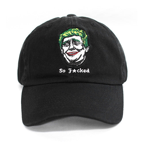Donald Trump Joker Black Dad Hat