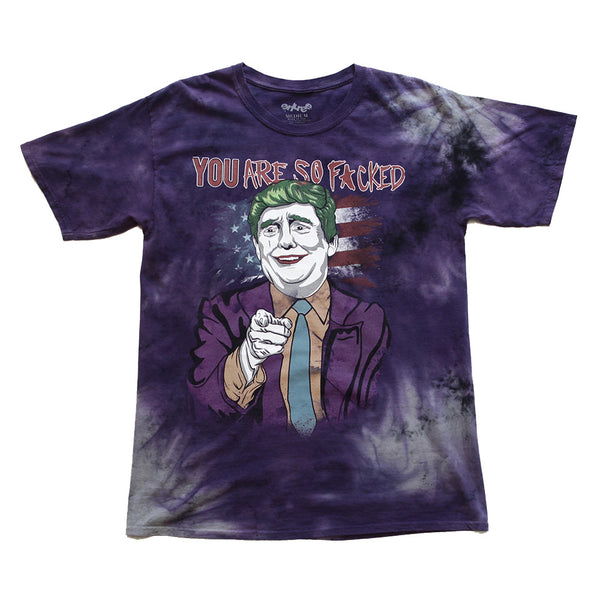 Donald Trump Joker Vintage Tie Dye Purple Tee