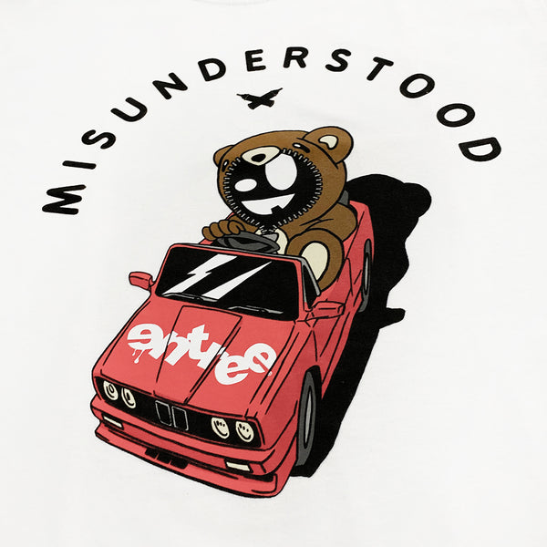 Misunderstood Drop Top Teddy White Tee