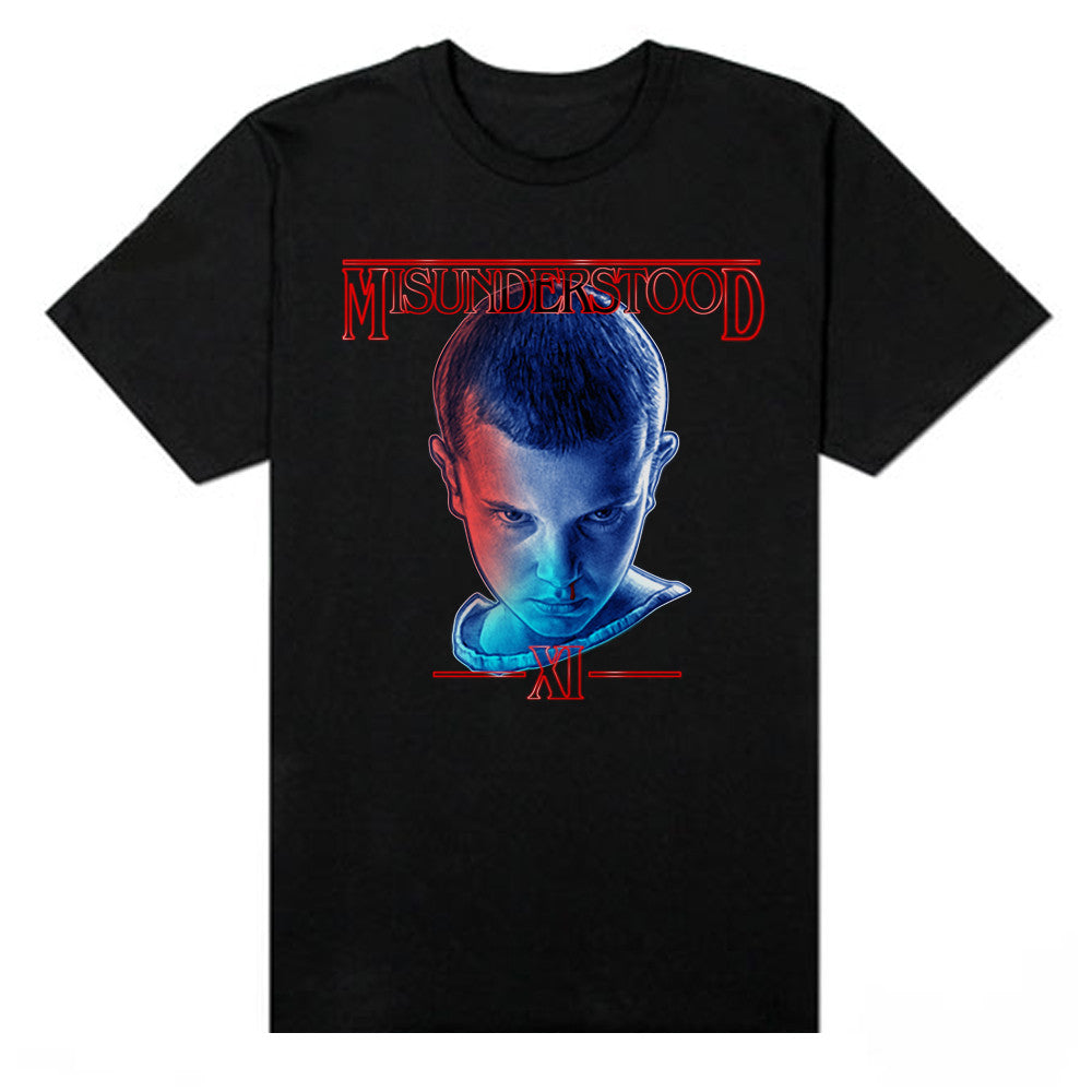 Misunderstood Eleven Stranger Things Black Tee