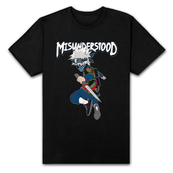Misunderstood Kakashi Black Tee *Low Stock*