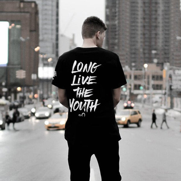 Entree LS Long Live The Youth Curved Hem Tee - Last One!