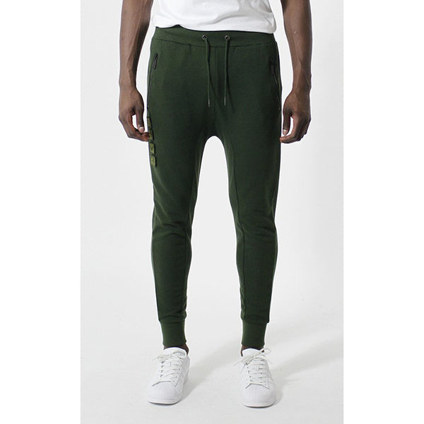 Entree LS Militeddy Dark Olive Green French Terry Jogger Pants