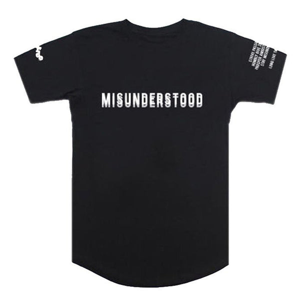 Entree LS Misunderstood Core Black Elongated Scallop Tee