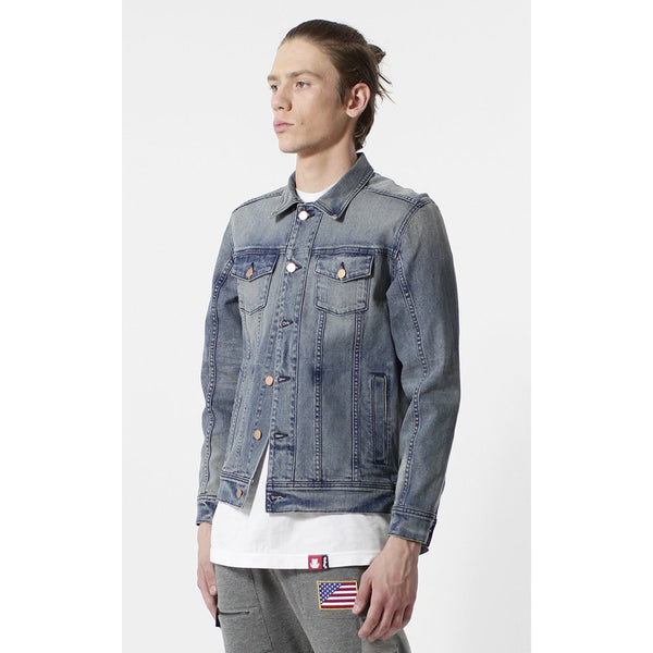 Entree LS Olympic USA Flag Vintage Wash Denim Jacket - Low Stock