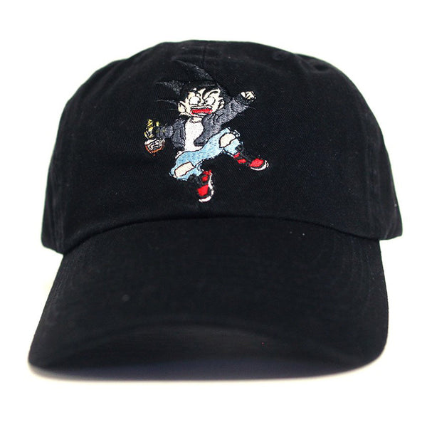 Misunderstood Goku Dad Hat in Black - Low Stock