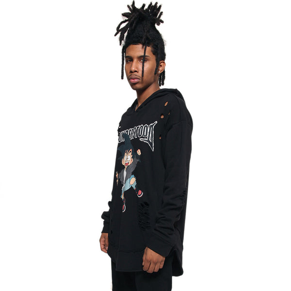 Misunderstood Goku Distressed Drop Curved Hoodie