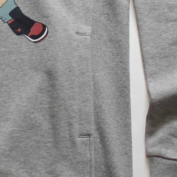 Misunderstood Goku Cut And Sewn Gray French Terry Hoodie