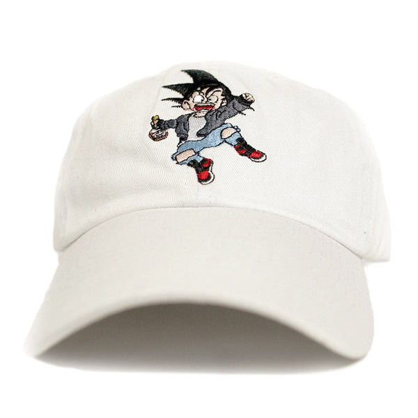 Misunderstood Goku Dad Hat in White